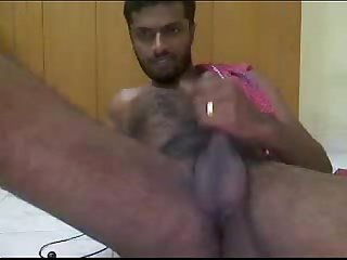 Indian guy cums fast and hard for my wife on omegle